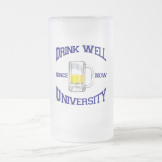 Do Well 16 Oz Frosted Glass Beer Mug