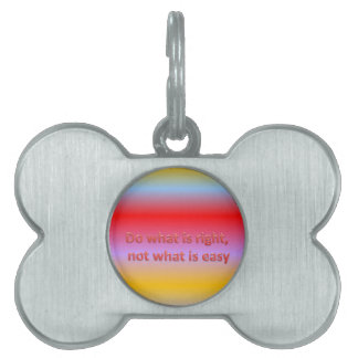 Do what is right,  not what is easy pet tag