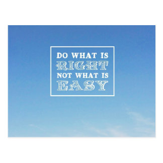 Do What is Right Postcard