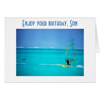 DO WHAT MAKE YOU HAPPY, SON - BIRTHDAY WISHES CARD