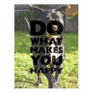 Do What Makes You Happy Labrador Playing With Ball Postcard