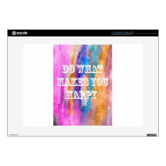 """Do what makes you happy watercolour design skins for 15"""" laptops"""