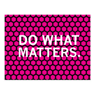 """""""Do What Matters"""" on Pink Hexagon Pattern Postcard"""