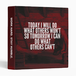Do What Others Won't - Workout Motivational 3 Ring Binder