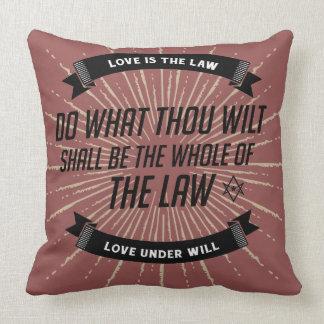 Do What Thou Wilt Throw Pillow