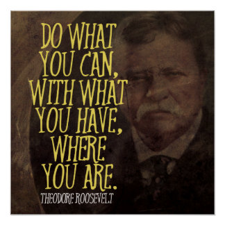 Teddy Roosevelt Quote Glamorous Theodore Roosevelt Quotes Art & Framed Artwork  Zazzle