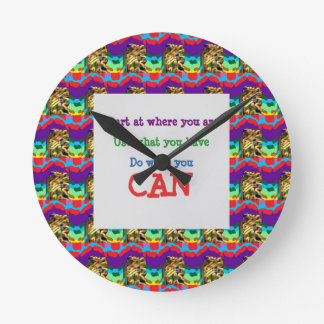Do what you can wisdom quote text words saying round clock