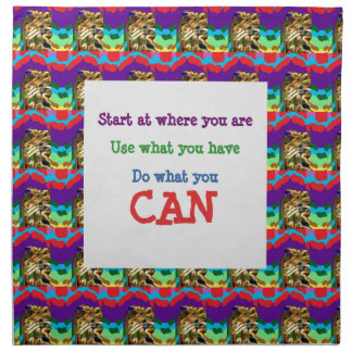 Do what you can wisdom quote text words saying napkin