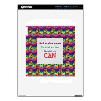 Do what you can wisdom quote text words saying skin for iPad 3