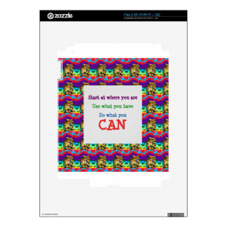 Do what you can wisdom quote text words saying skins for iPad 2