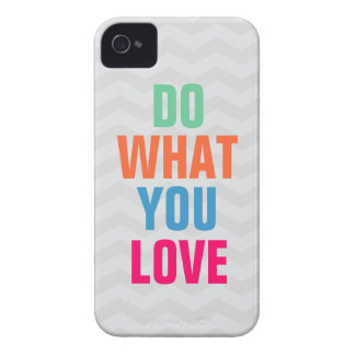 Do What You Love, chevron background iPhone 4/4s iPhone 4 Cover