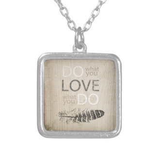 Do What You Love   Feather and inspirational Custom Jewelry