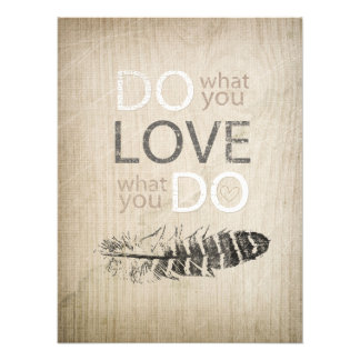 Do What You Love | Feather and inspirational Photo Print