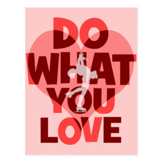 do what you love figure skating postcard