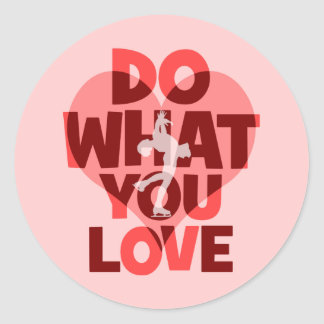 do what you love figure skating stickers