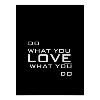 Do What You Love Modern Poster Art