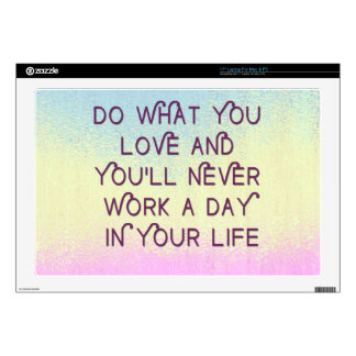 Do What You Love Motivational Quote Cases Skin For Laptop