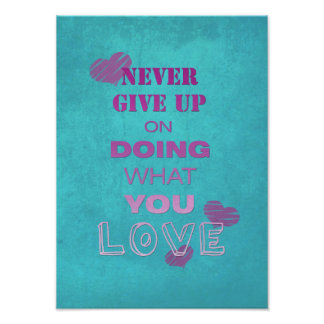 Do what you love motivational text typography photo print