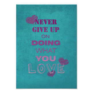 Do what you love motivational text typography poster