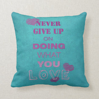 Do what you love motivational text typography throw pillow