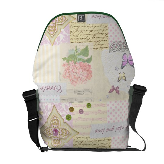 Do what you love - Pink & Cream collage Girls bag