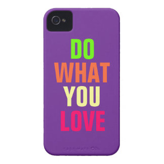 Do What You Love, purple background iPhone 4/4s Case-Mate iPhone 4 Cases