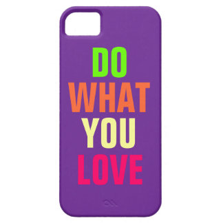 Do What You Love, purple background iPhone 5 iPhone SE/5/5s Case