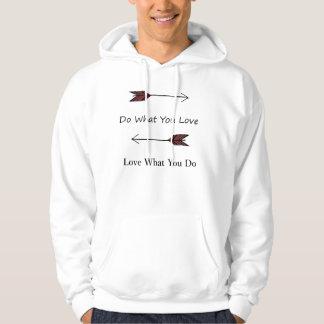 Do What You Love Slogan Tribal Arrows Hoodie
