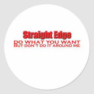 do-what-you-want classic round sticker