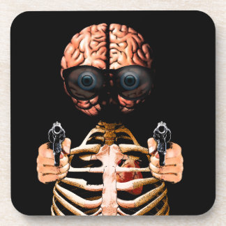 Do what your brain says drink coaster