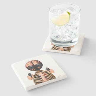 Do what your brain says stone coaster
