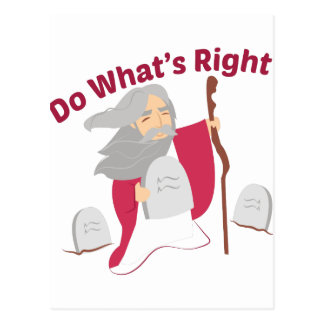 Do What's Right Postcard