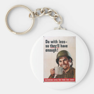 Do With Less! Keychain