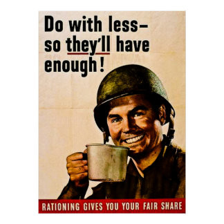 Do With Less - Vintage WWII Rationing Posters