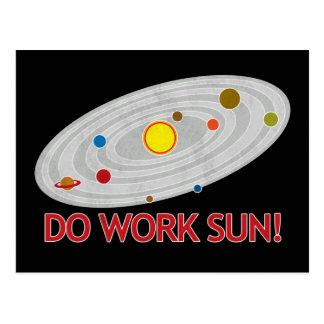 Do Work Sun! Postcard