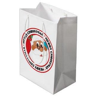 Do You Believe in Black Santa Claus? Medium Gift Bag