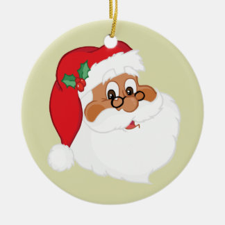 Do You Believe in Black Santa Claus? Double-Sided Ceramic Round Christmas Ornament
