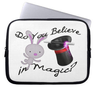 Do You Believe In Magic Top Hat & Rabbit Computer Sleeve
