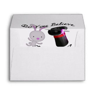 Do You Believe In Magic Top Hat & Rabbit Envelopes