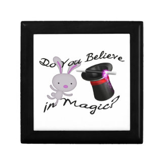 Do You Believe In Magic Top Hat & Rabbit Jewelry Box