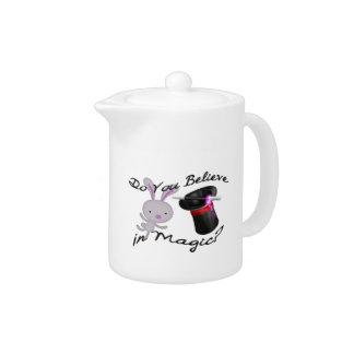 Do You Believe In Magic Top Hat & Rabbit Teapot