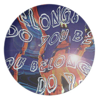 Do you belong? party plates