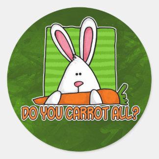 do you carrot all classic round sticker