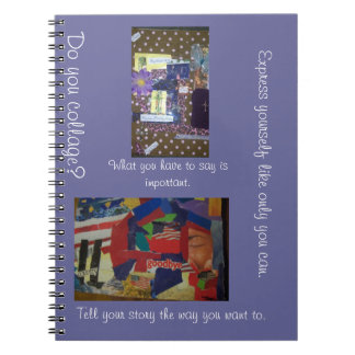 Do you collage? Express yourself notebook