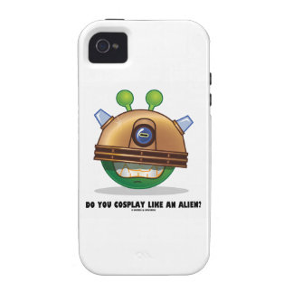 Do You Cosplay Like An Alien? Green Alien Face Case-Mate iPhone 4 Cases