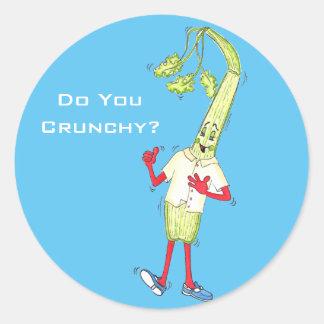 'Do You Crunchy' Glossy Round Sticker