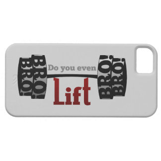 Do you even lift bro barbells iPhone 5 cover