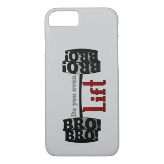 Do you even lift bro barbells iPhone 8/7 case