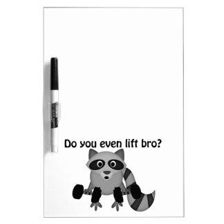 Do You Even Lift Bro Raccoon Dry Erase Board