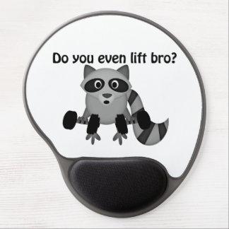 Do You Even Lift Bro Raccoon Gel Mouse Pad